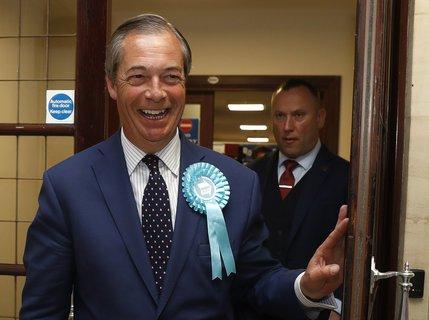 Nigel Farage, Vorsitzender der Brexit-Partei. Foto: Alastair Grant, AP/dpa