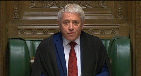 Bekannt für seine bunten Krawatten: John Bercow, Parlamentspräsident von Großbritannien. Foto: House of Commons, PA/dpa/Archiv