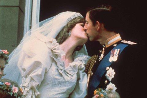 Hochzeitskuss am 29. Juli 1981. Foto: dpa
