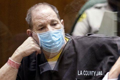 Harvey Weinstein während er einer Anhörung vor Gericht in Los Angeles. Foto:Etienne Laurent/dpa